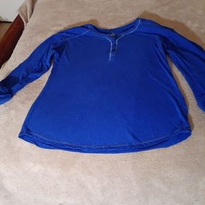 JUSTICE  Royal Blue 3/4 Sleeves.  Near new.